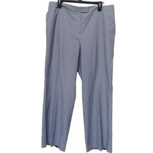 Talbots Lined Trouser Pant Blue Stripe-16